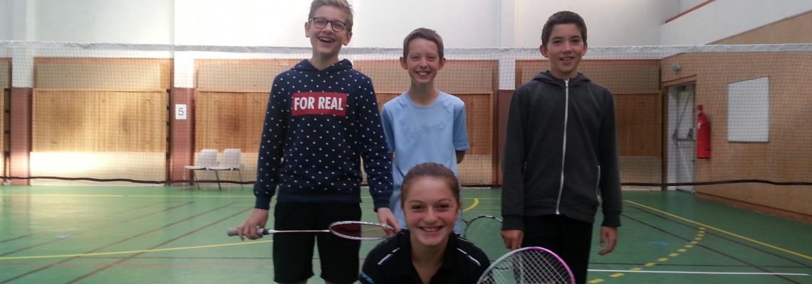 Jeanne, Brice, Nathan et Lucas