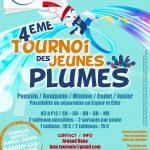 4ème tournoi des jeunes plumes les 29 et 30 juin