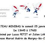 Plateau Minibad le samedi 25 janvier